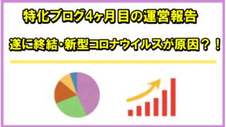 【ブログ運営報告】完全外注化の新規ブログ4ヶ月目のPV(アクセス)と収益を公開